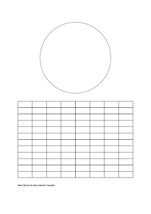 Blank Spinner/bar Graph Printable pdf