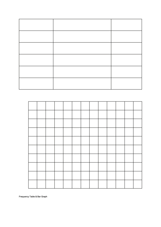 Frequency/bar Graph Template Printable pdf