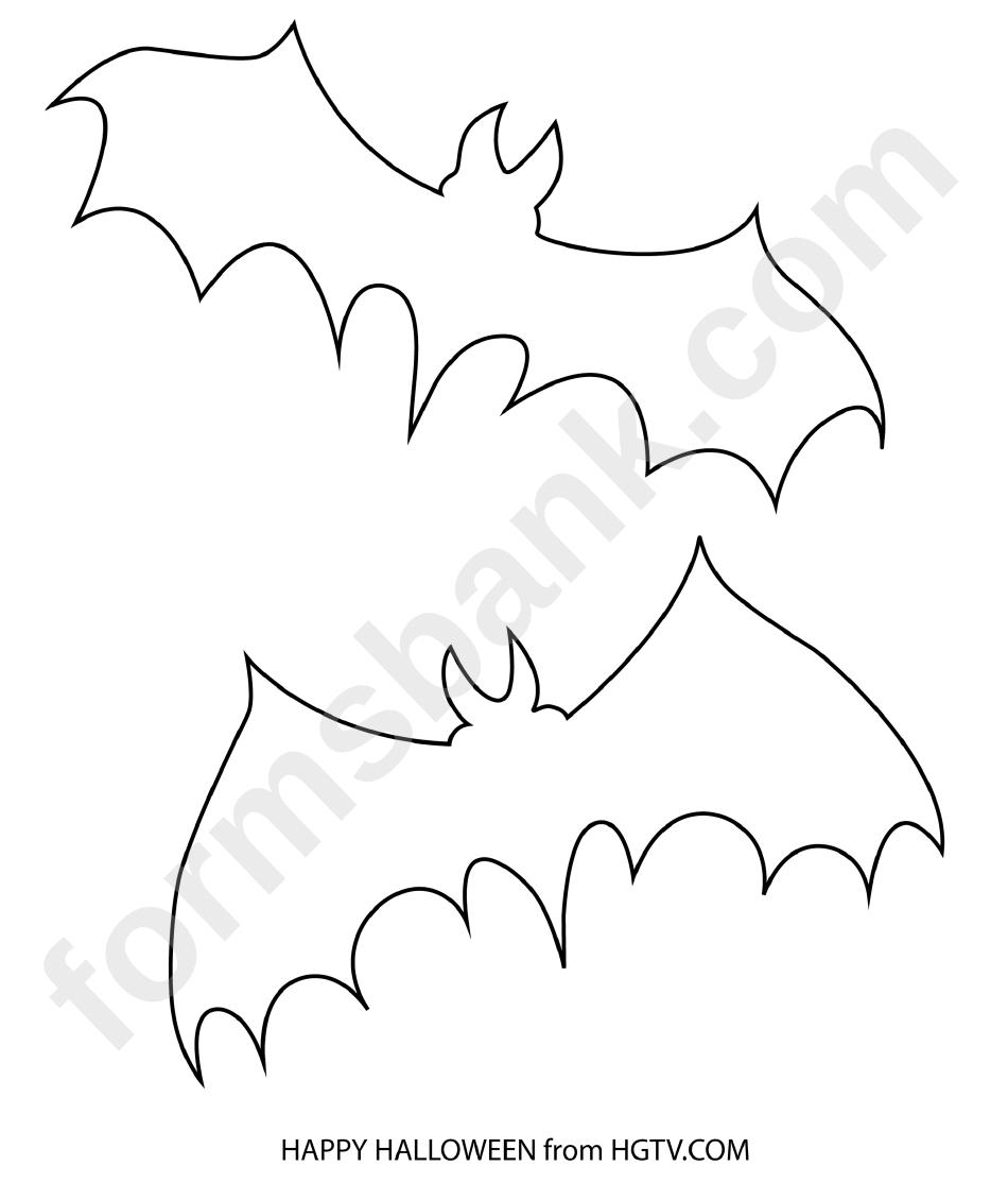 Small Bat Template