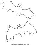 Small Halloween Bat Template
