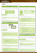 Symfony View Cheat Sheet