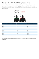 Douglas Shoulder Pad Fitting Size Chart