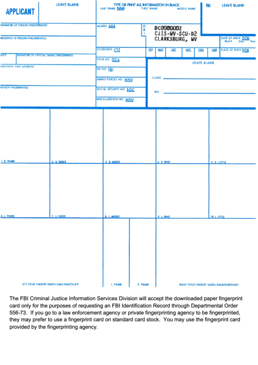 15 Federal Bureau Of Investigation Forms And Templates Free To