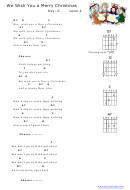 We Wish You A Merry Christmas Chord Chart