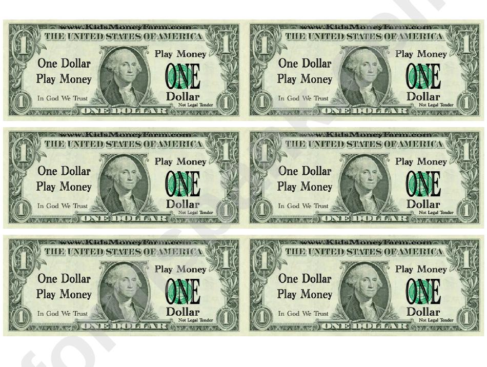 Astounding image for printable dollars