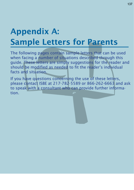 Sample Letters For Parents - Special Education Letter Templates