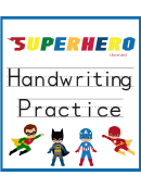 Handwriting Practice - Superhero