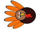 Colorful Turkey Template