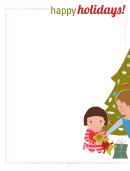 Happy Holidays Writing Template