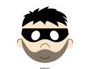Burglar Mask Template