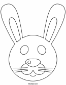 Rabbit Mask Template To Color