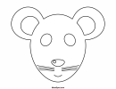 Mouse Mask Template To Color