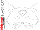 Black Cat B/w Mask Template