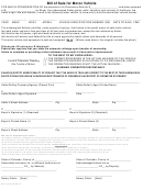 Form Dr 2173-pn - Bill Of Sale For Motor Vehicle With Promissory Note - State Of Colorado
