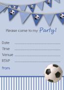 Football Party Invitation Templates