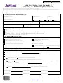 Ira Distribution Request Form