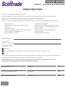Signature Page Form
