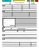 Form A-222 - Power Of Attorney Use Mouse