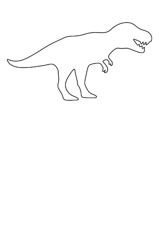 T Rex Template Printable Pdf