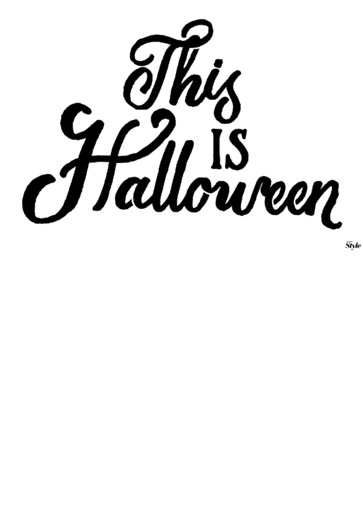 This Is Halloween Poster Template