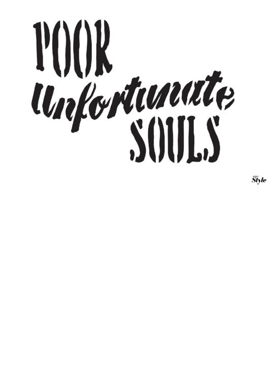 Poor Unfortunate Souls Poster Template