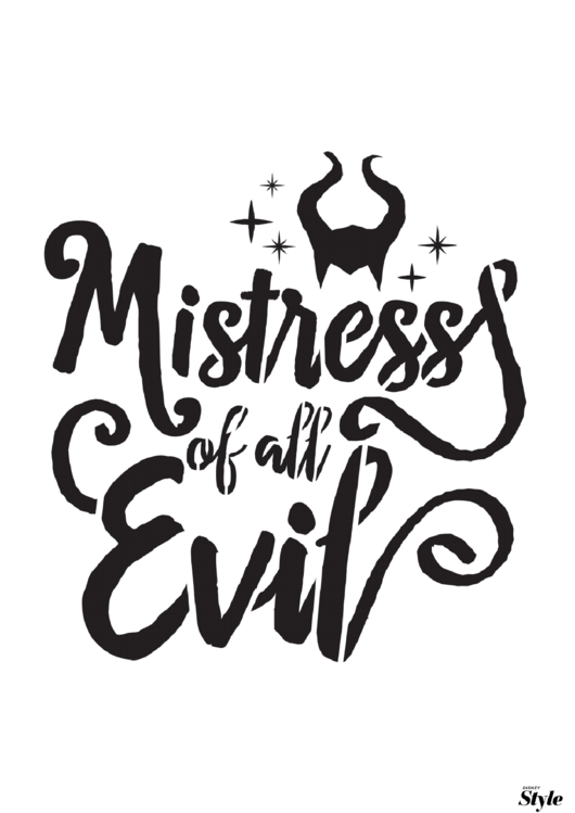 Mistress Of All Evil Halloween Poster Template