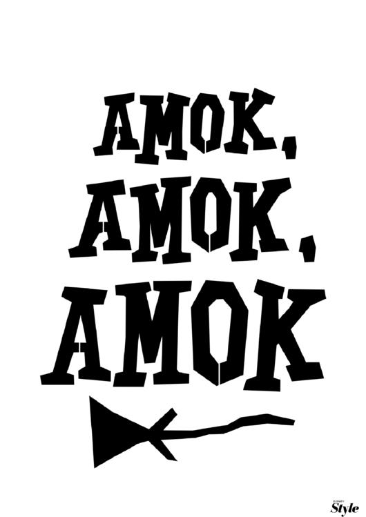 Amok Amok Amok Poster Template