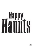 Happy Haunts Poster Template