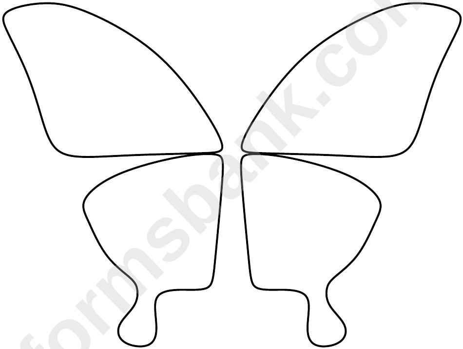Butterfly Wings Template printabledownload