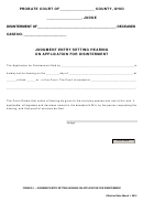 Ohio Probate Form - Judgment Entry Setting Hearing On Application For Disinterment