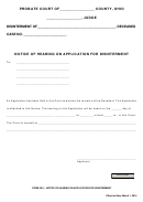 Ohio Probate Form - Notice Of Hearing On Application For Disinterment