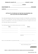 Ohio Probate Form - Affidavit Of Service Of Notice On Hearing On Application For Disinterment