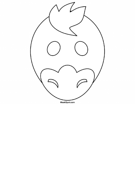 Duck Mask Template To Color printable pdf download
