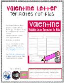 Valentine Letter Templates For Kids