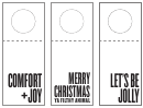 Holiday Wine Tag Template