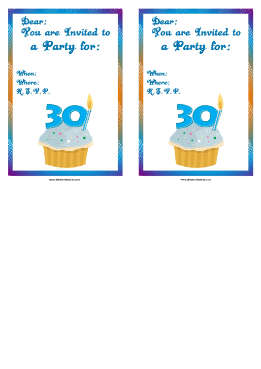 Party Invitation Template Printable pdf