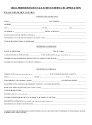 Skill Performance Evaluation Certificate Application Form