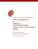 Common Core Standard For English Language Arts