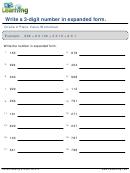 Grade 2 Place Value Worksheet