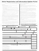 Voter Registration And Information Update Form