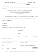 Ohio Probate Form - Notification Of Guardian's Receipt Of Fees Other Than Through Guardianship