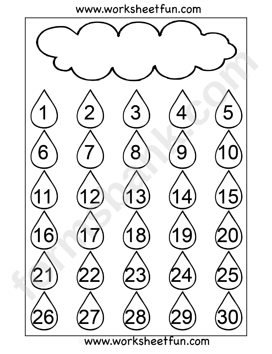 Number Chart 1-30