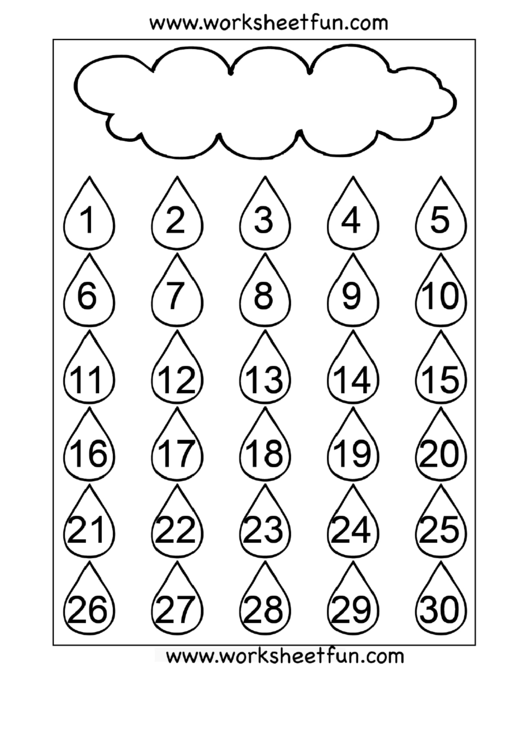 Number Chart 1-30 Printable pdf