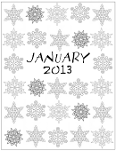 Snowflake Coloring Sheet