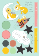 To The Moon And Back Cut-out Paper Templates