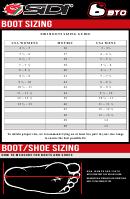Sidi Boot Sizing Chart