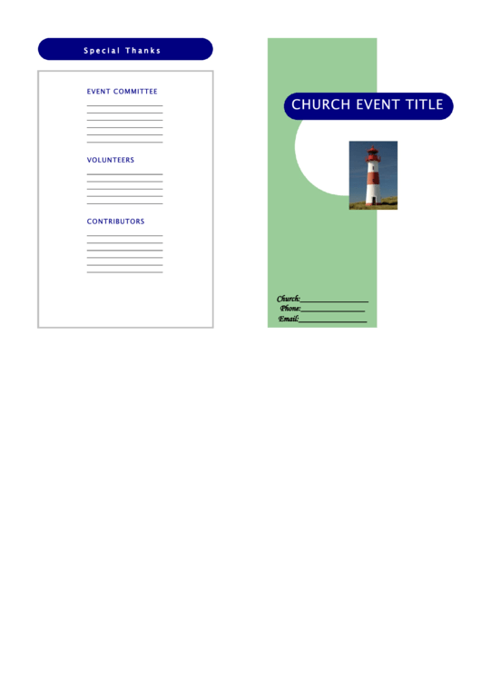 church event pamphlet sample printable pdf download