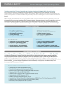 General Manager/chief Operating Officer Sample Resume Template