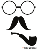 Mustache And Circle Glasses Templates
