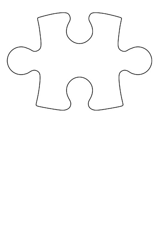 Large Puzzle Piece Template